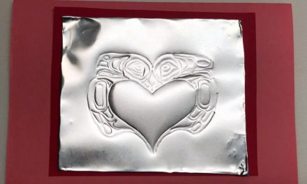 At Saxan Art Activity – Make Embossed Love Birds
